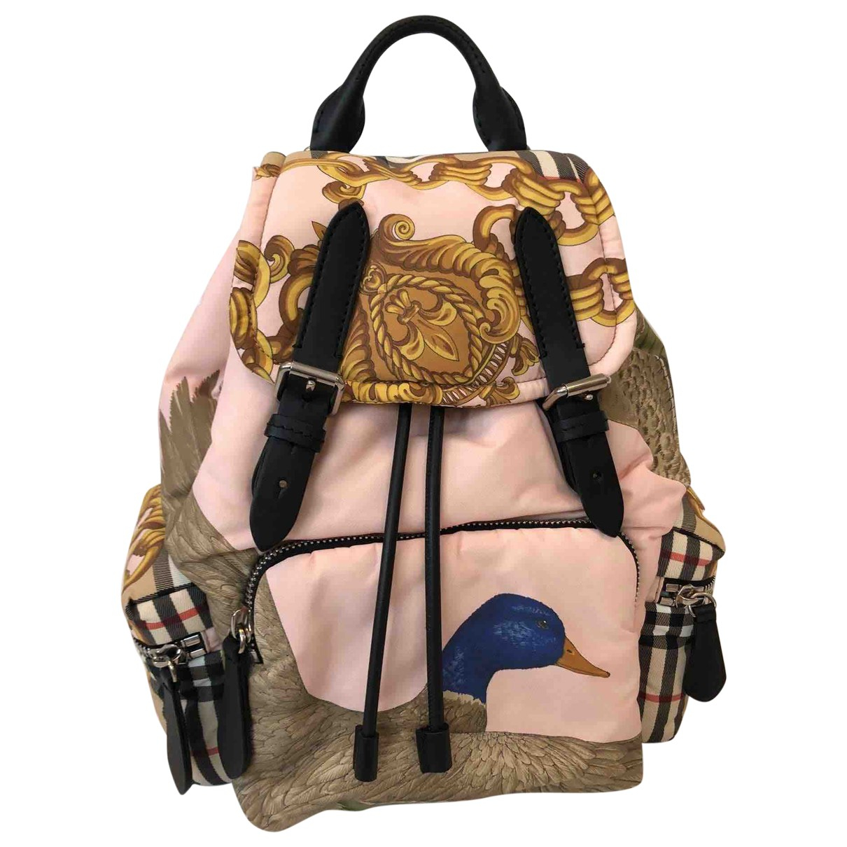Burberry The Rucksack Pink Cloth backpack for Women \N