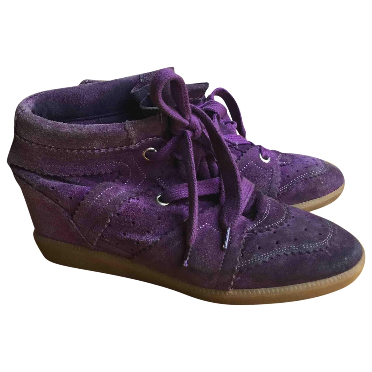 Isabel Marant Betty Purple Patent leather Trainers for Women 40 EU