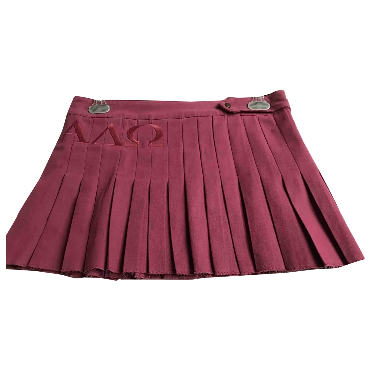 Dondup \N Pink Cotton skirt for Women 44 IT