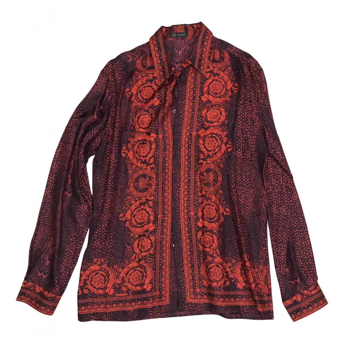 Versace \N Red Silk Shirts for Men 41 EU (tour de cou / collar)