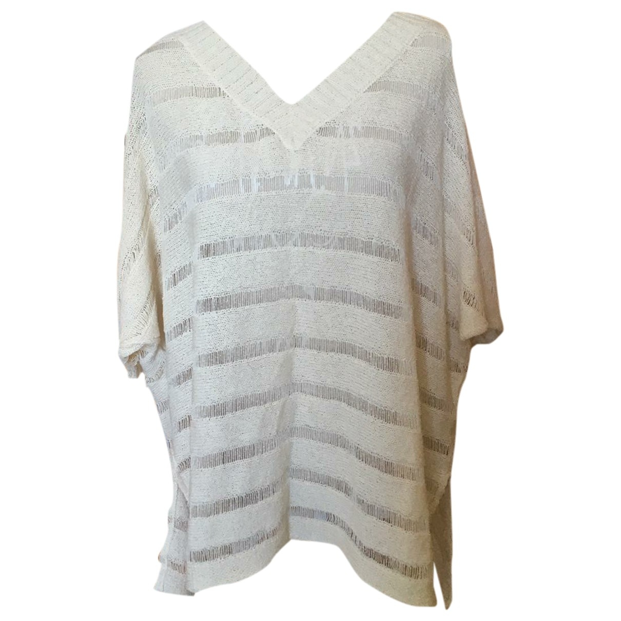 Non Sign?? / Unsigned \N Beige Cotton Knitwear for Women L International