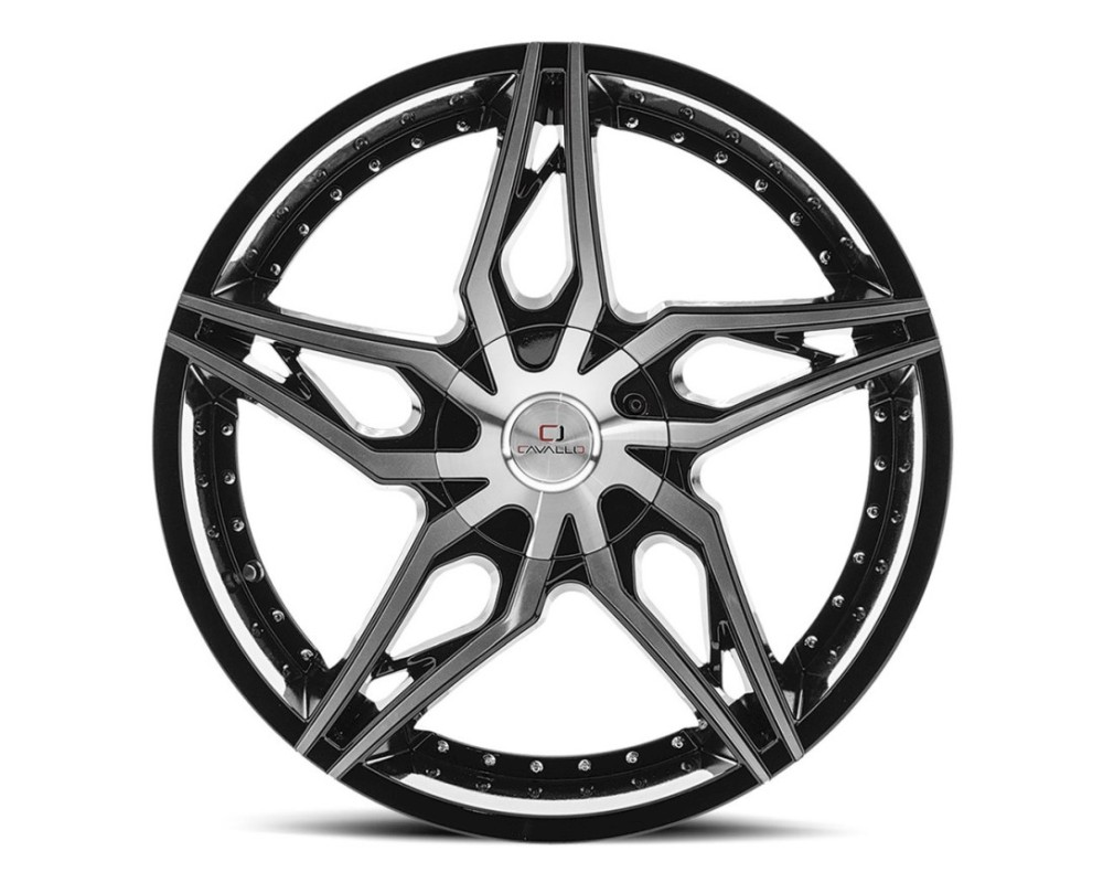 Cavallo CLV-38 Wheel 22x8.5 5x110|5x114.3 38mm Gloss Black Machined