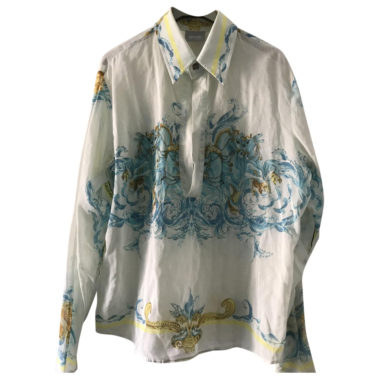 Versace Jeans \N Blue Cotton Shirts for Men M International