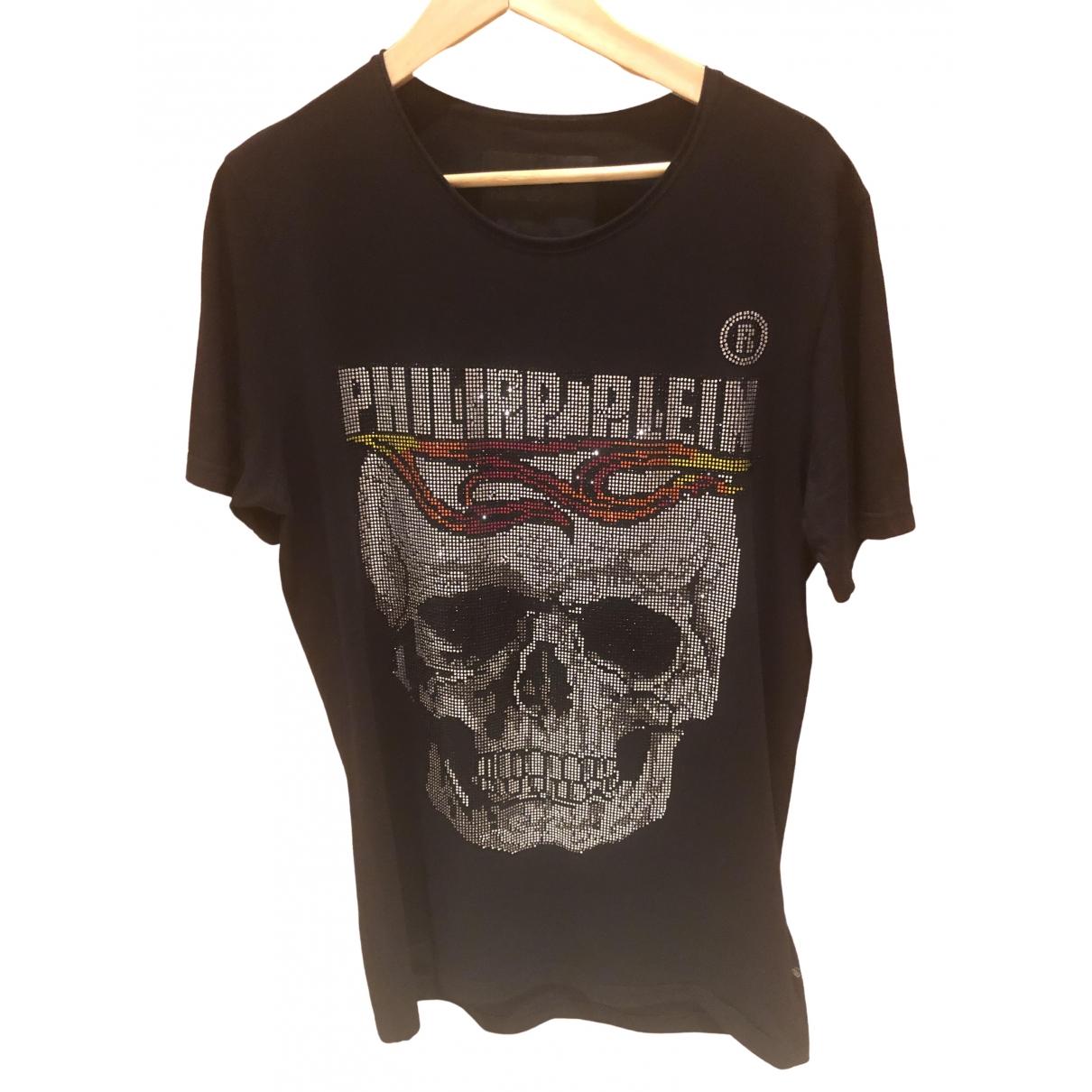 Philipp Plein \N Black Cotton T-shirts for Men XL International
