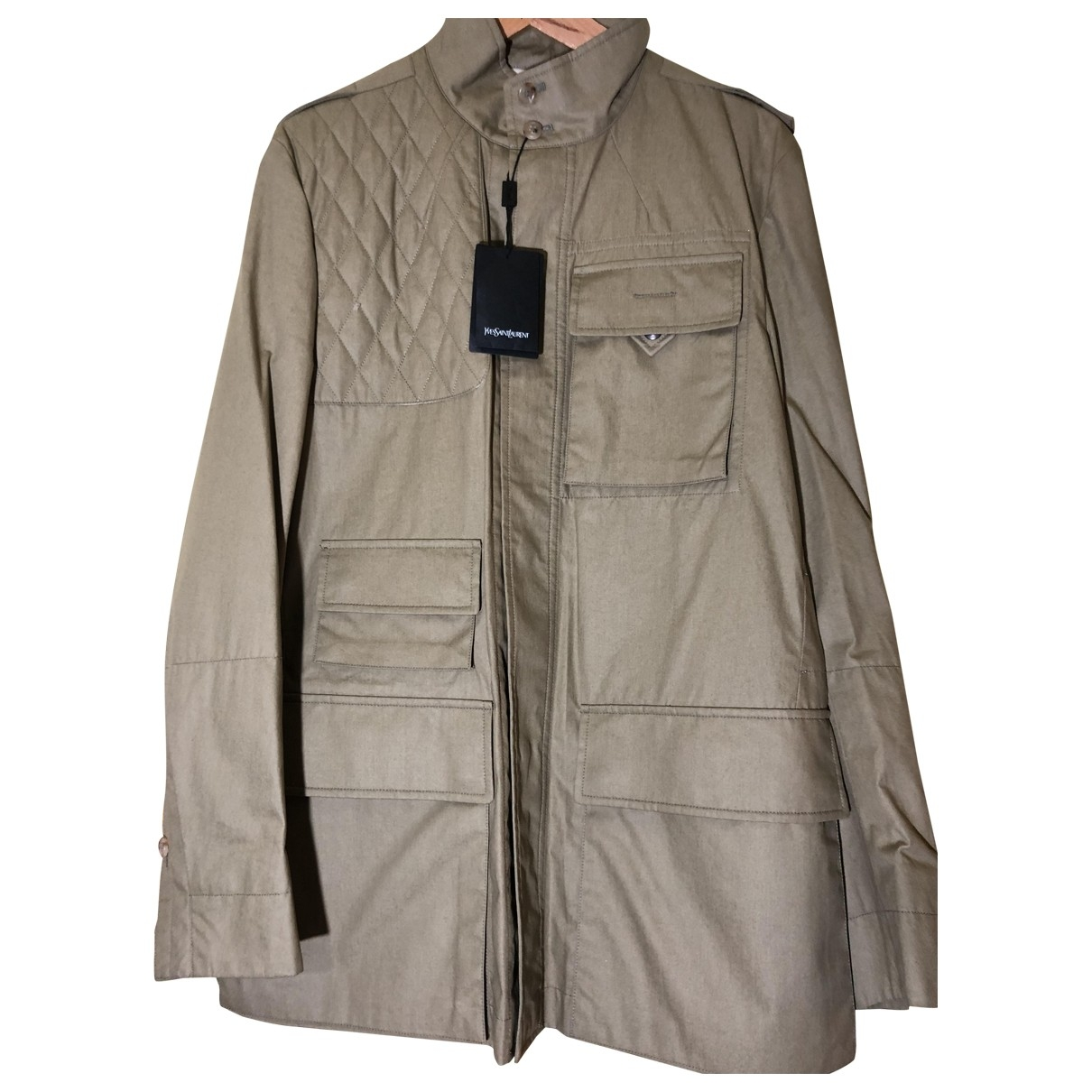 Yves Saint Laurent \N Beige Cotton jacket  for Men 46 IT