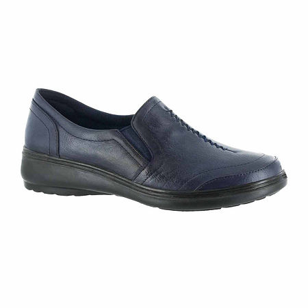 Easy Street Womens Ultimate Slip-On Shoe, 6 1/2 Wide, Blue