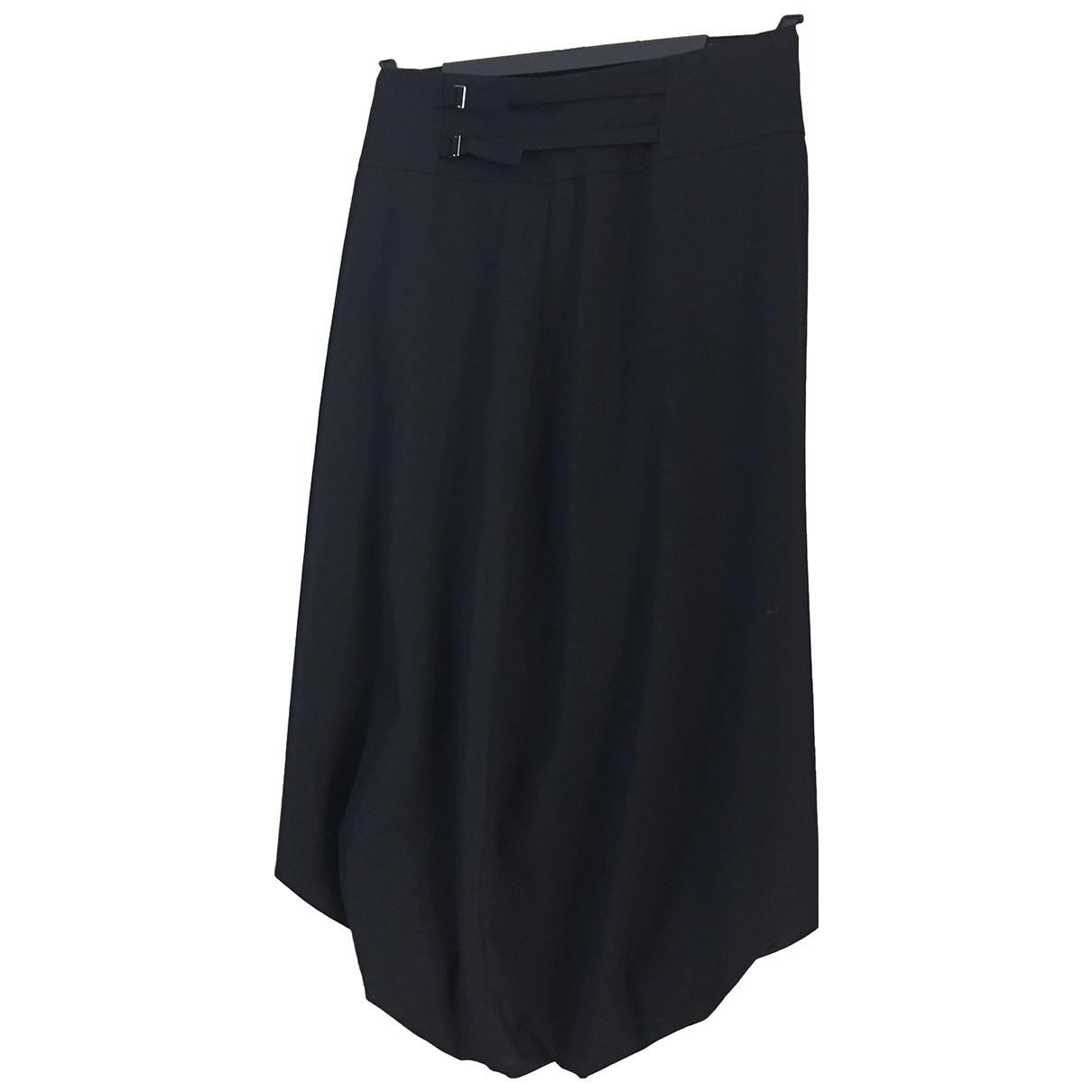Non Signé / Unsigned \N Black Wool skirt for Women 1 0-5