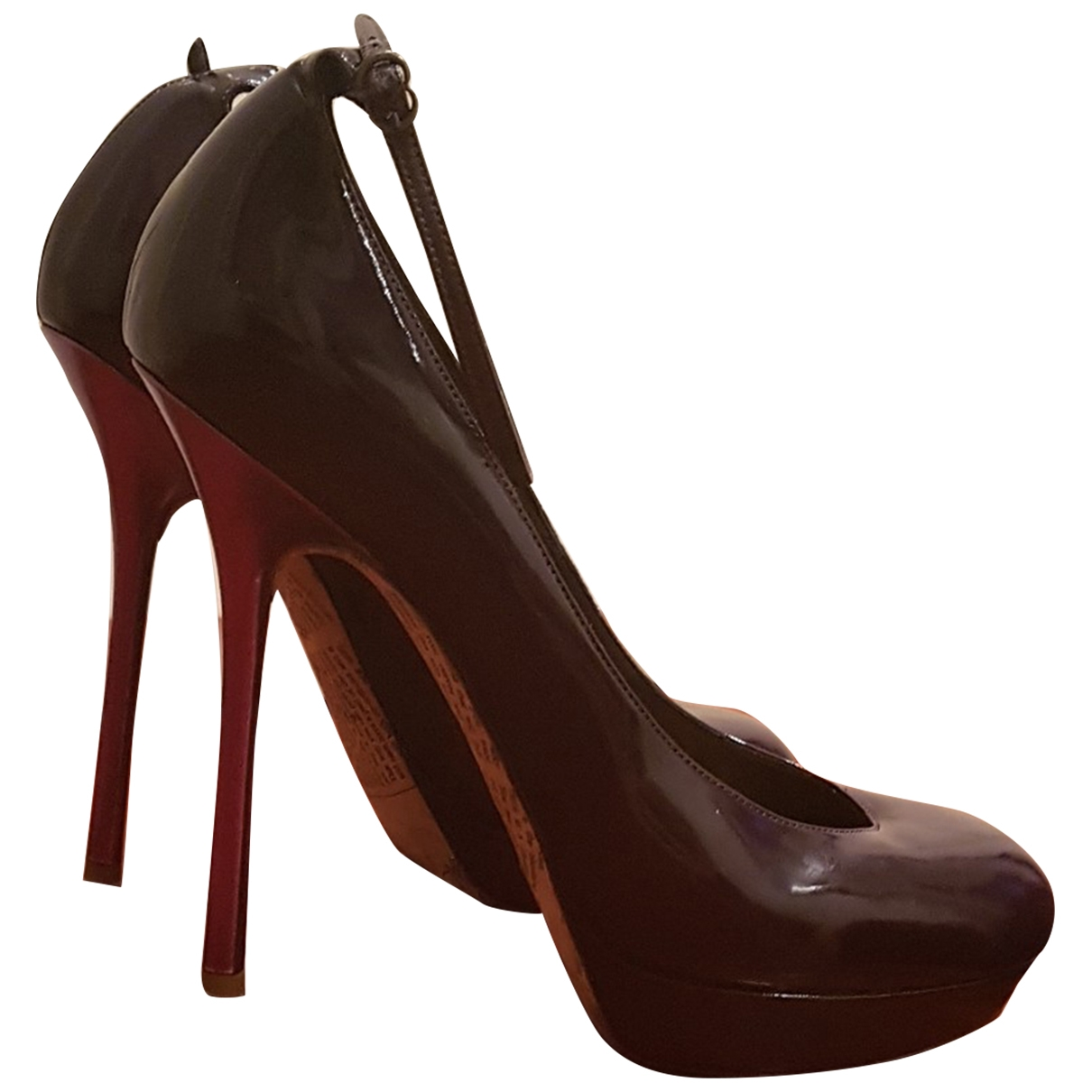 John Galliano \N Burgundy Patent leather Heels for Women 37.5 IT