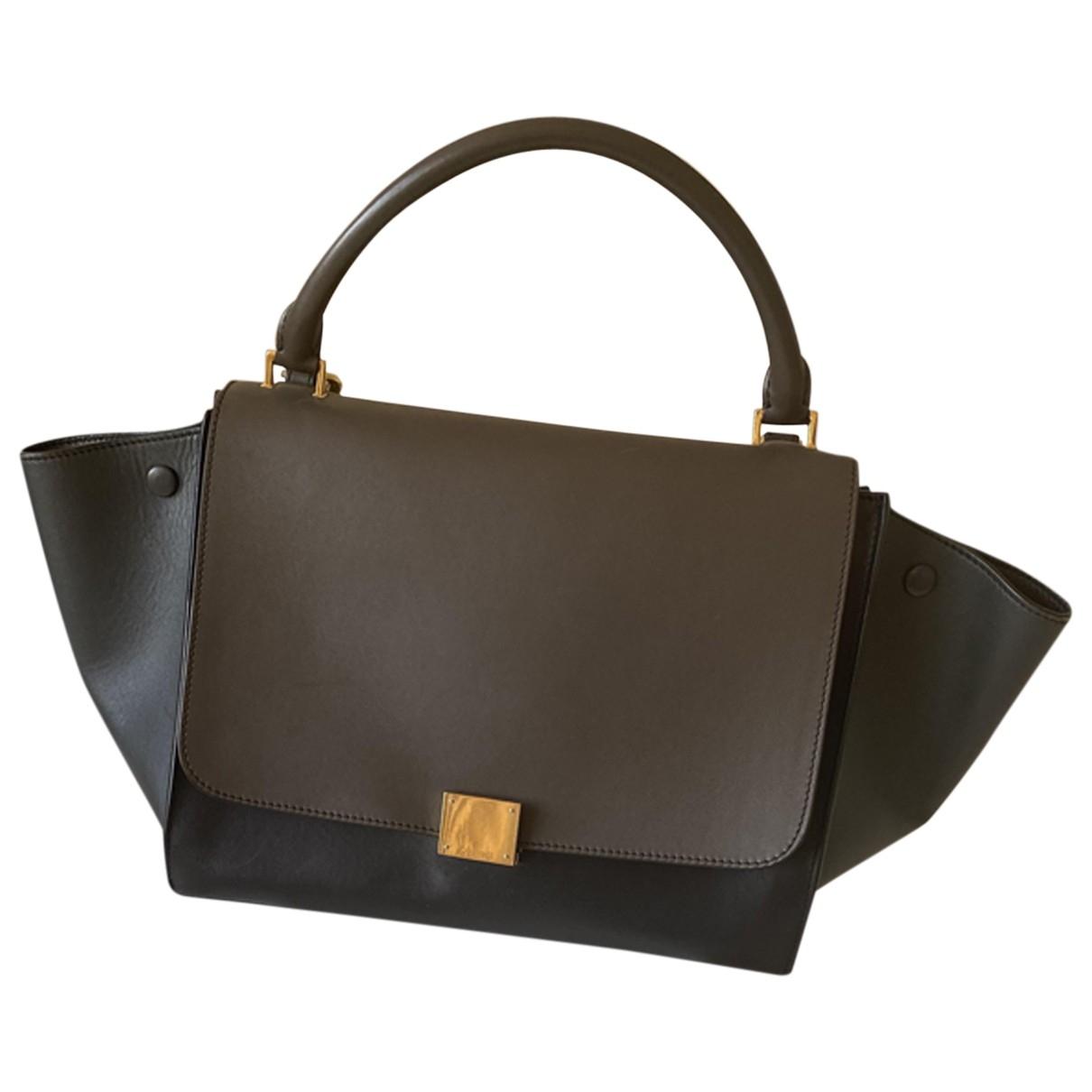 Celine Trapèze Grey Leather handbag for Women \N