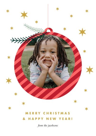 Christmas Photo Cards 5x7 Cards, Premium Cardstock 120lb with Elegant Corners, Card & Stationery -O'Joy