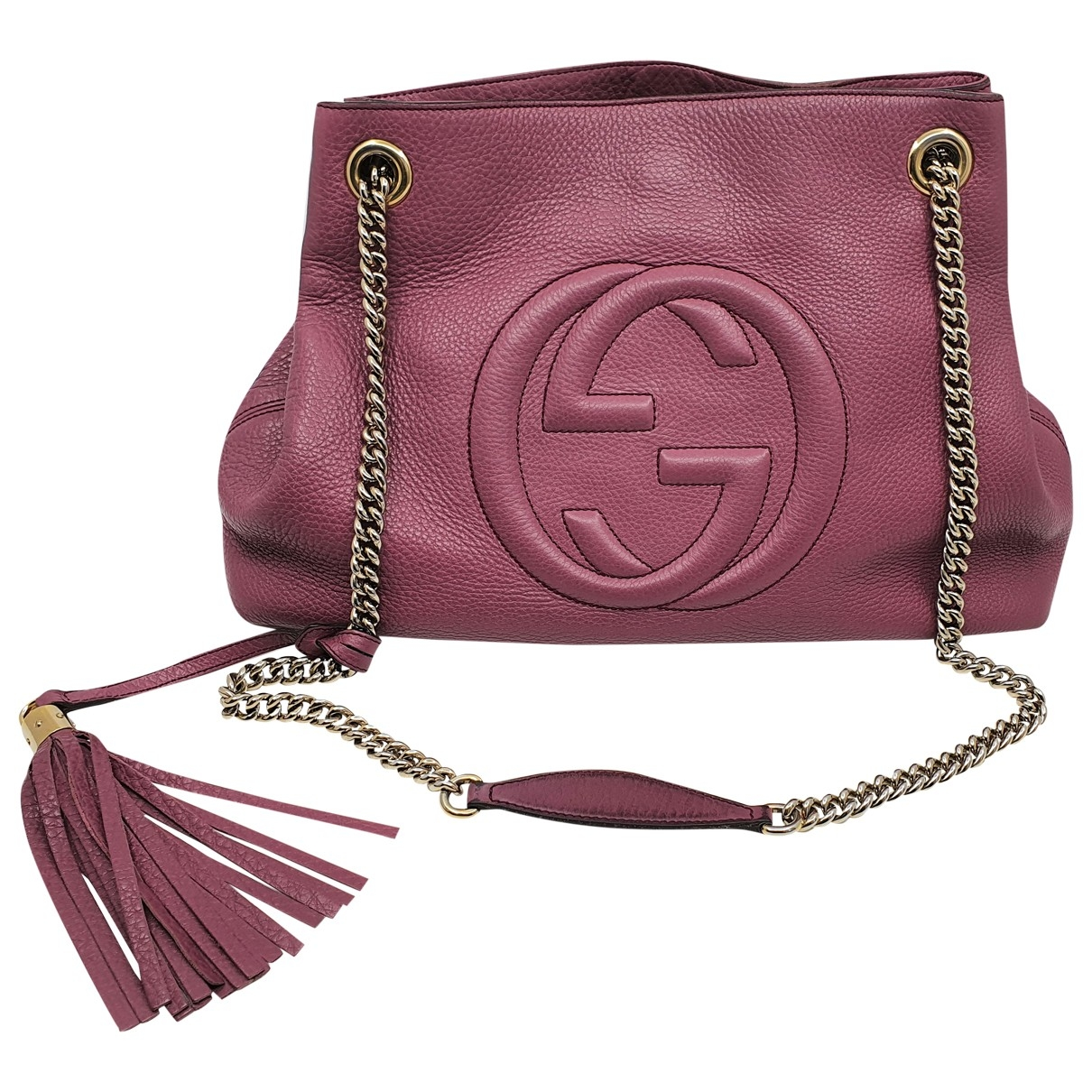 Gucci Soho Purple Leather handbag for Women \N