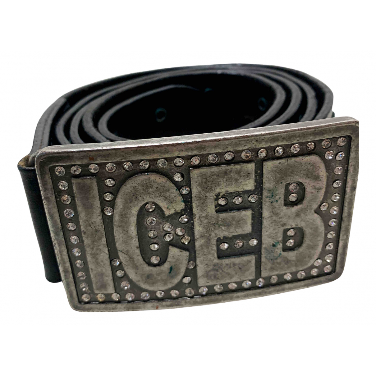 Iceberg \N Black Leather belt for Women 95 cm
