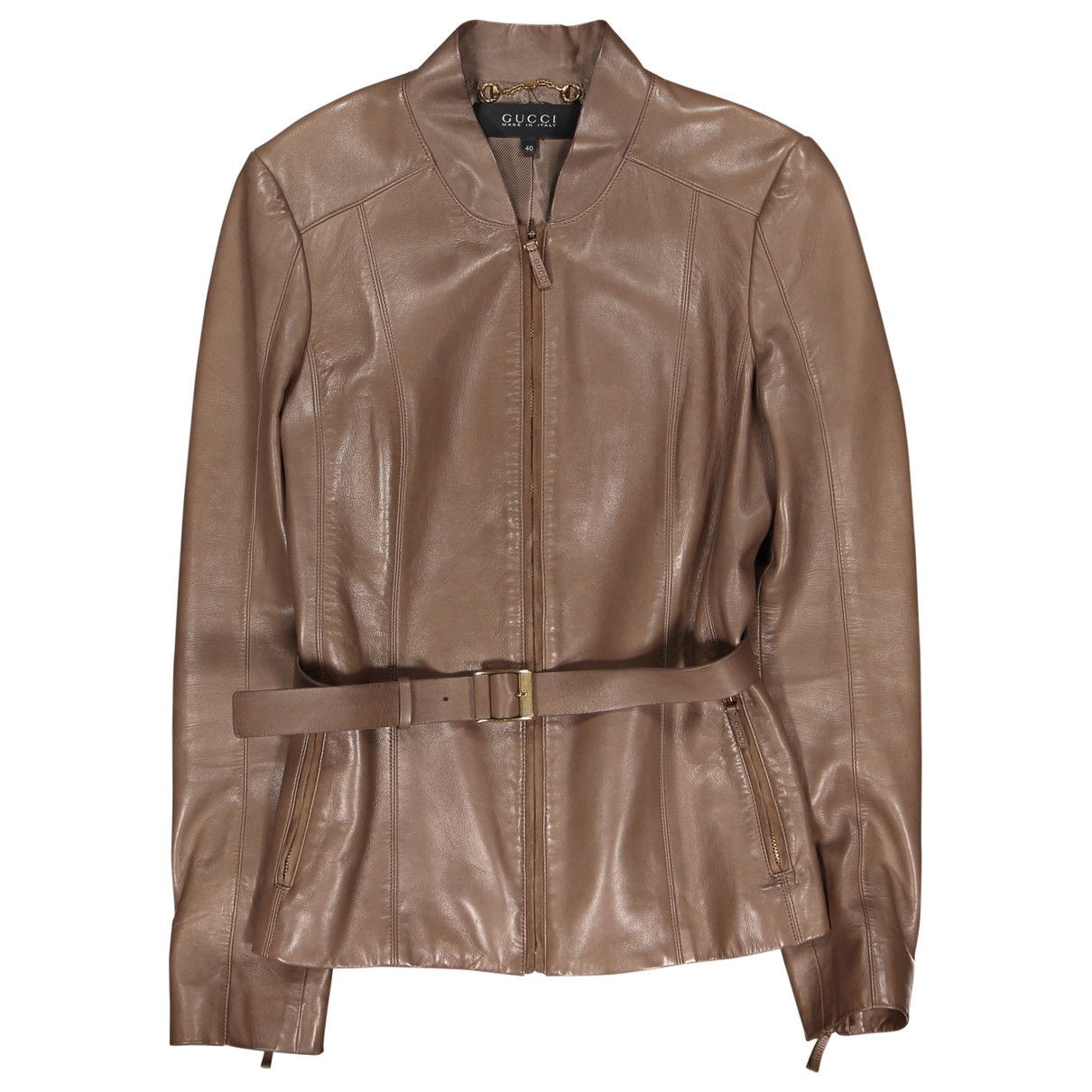 Gucci \N Brown Leather jacket for Women 40 IT