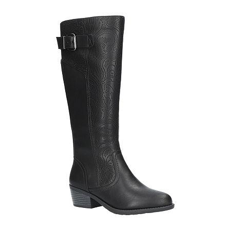 Easy Street Womens Arwen Booties Block Heel, 5 1/2 Medium, Black