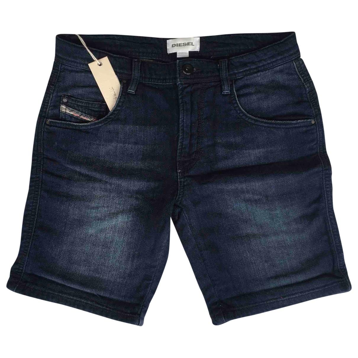 Diesel \N Blue Denim - Jeans Shorts for Kids 14 years - S FR