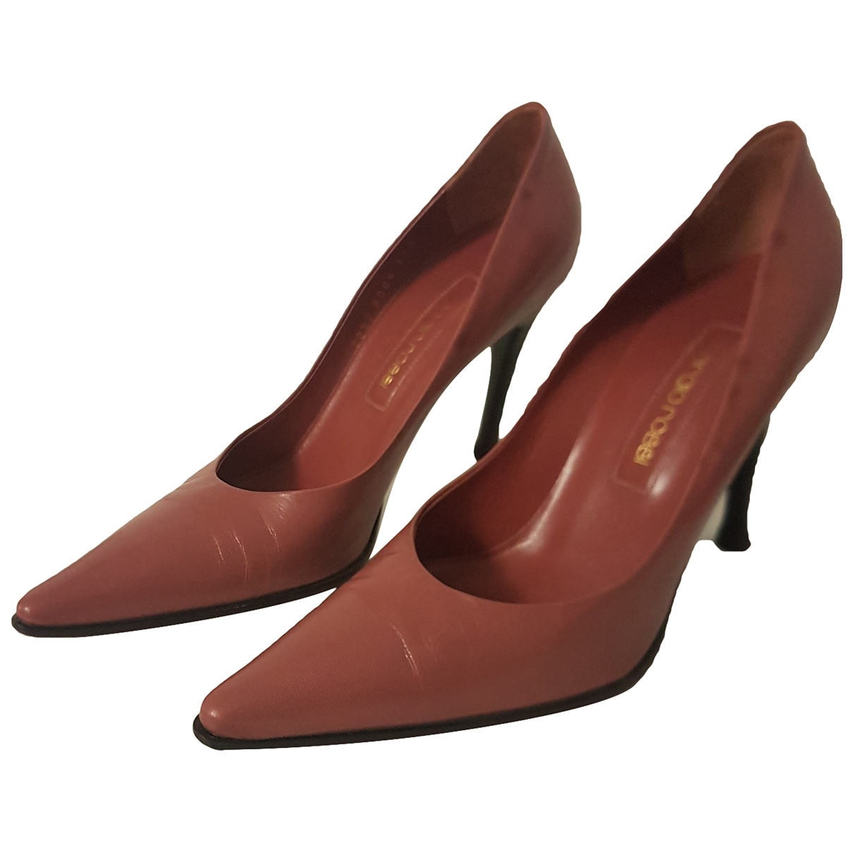 Sergio Rossi \N Pink Leather Heels for Women 37.5 EU