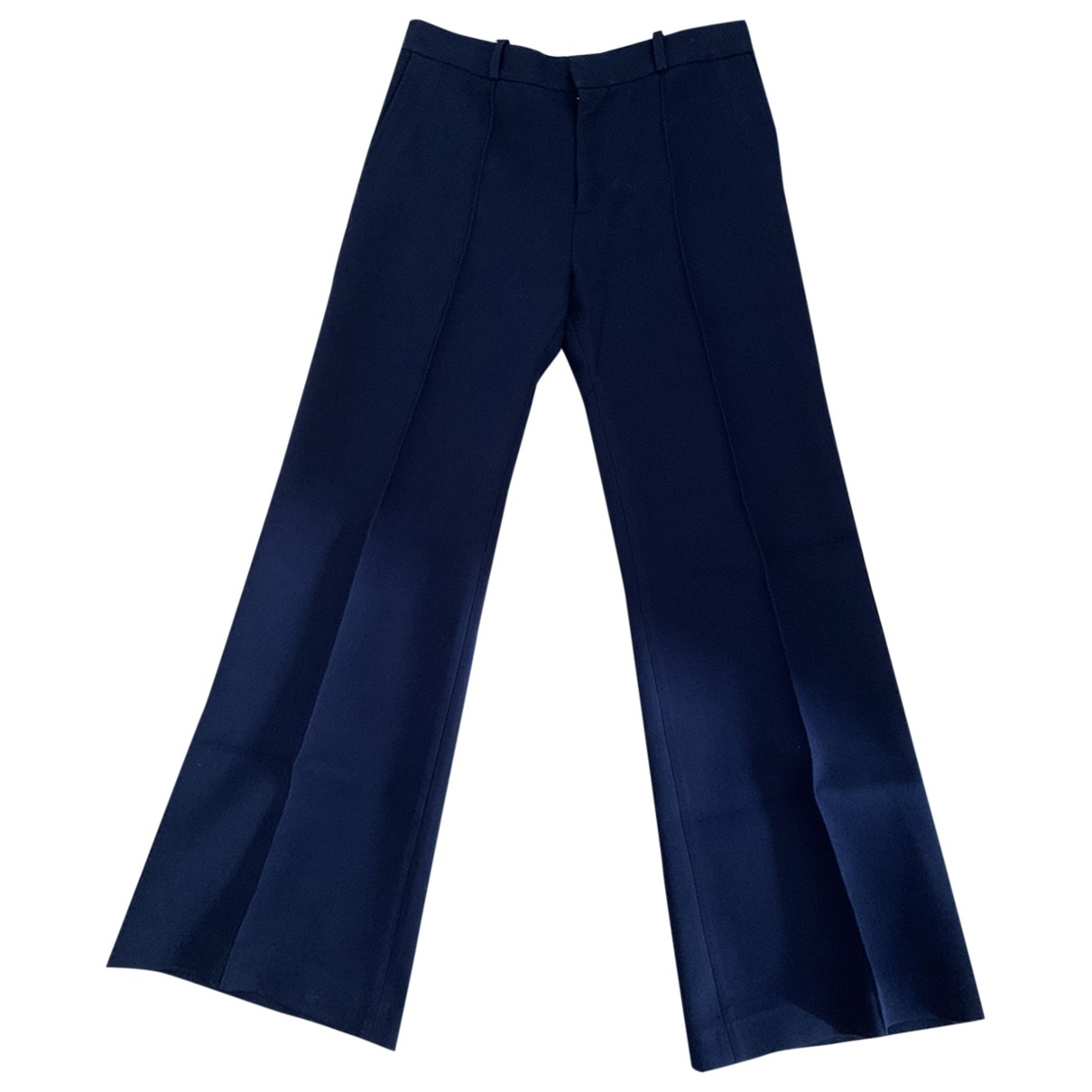 See By Chloé \N Navy Cotton Trousers for Women 40 FR