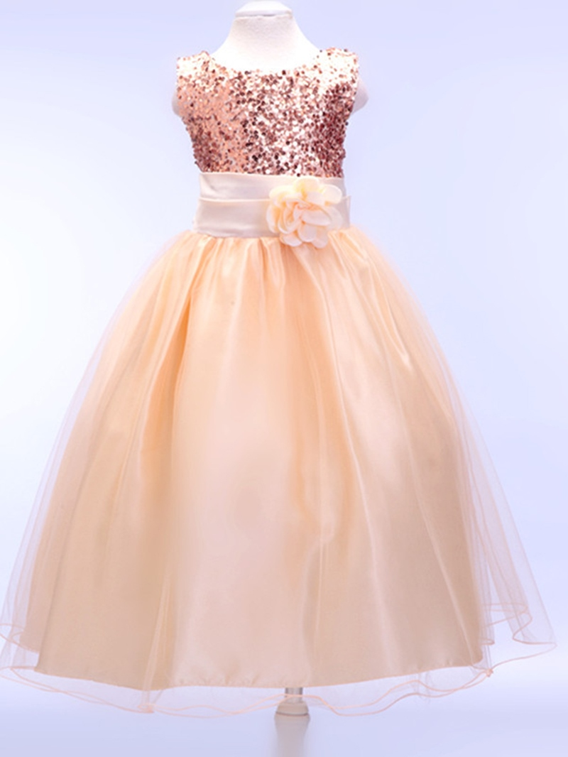 Ericdress Sequins Sleeveless Princess Girls Dress