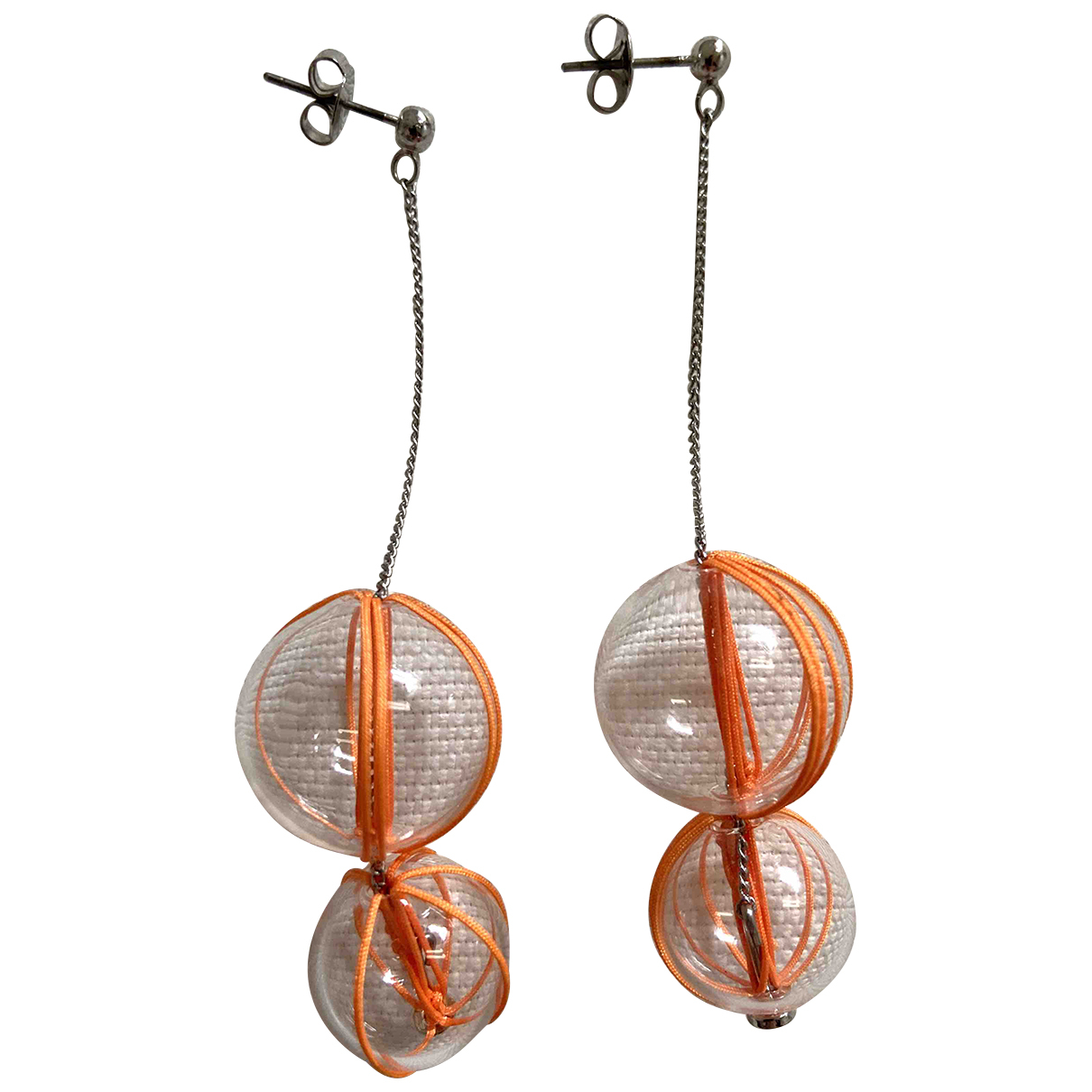Cos \N Orange Earrings for Women \N