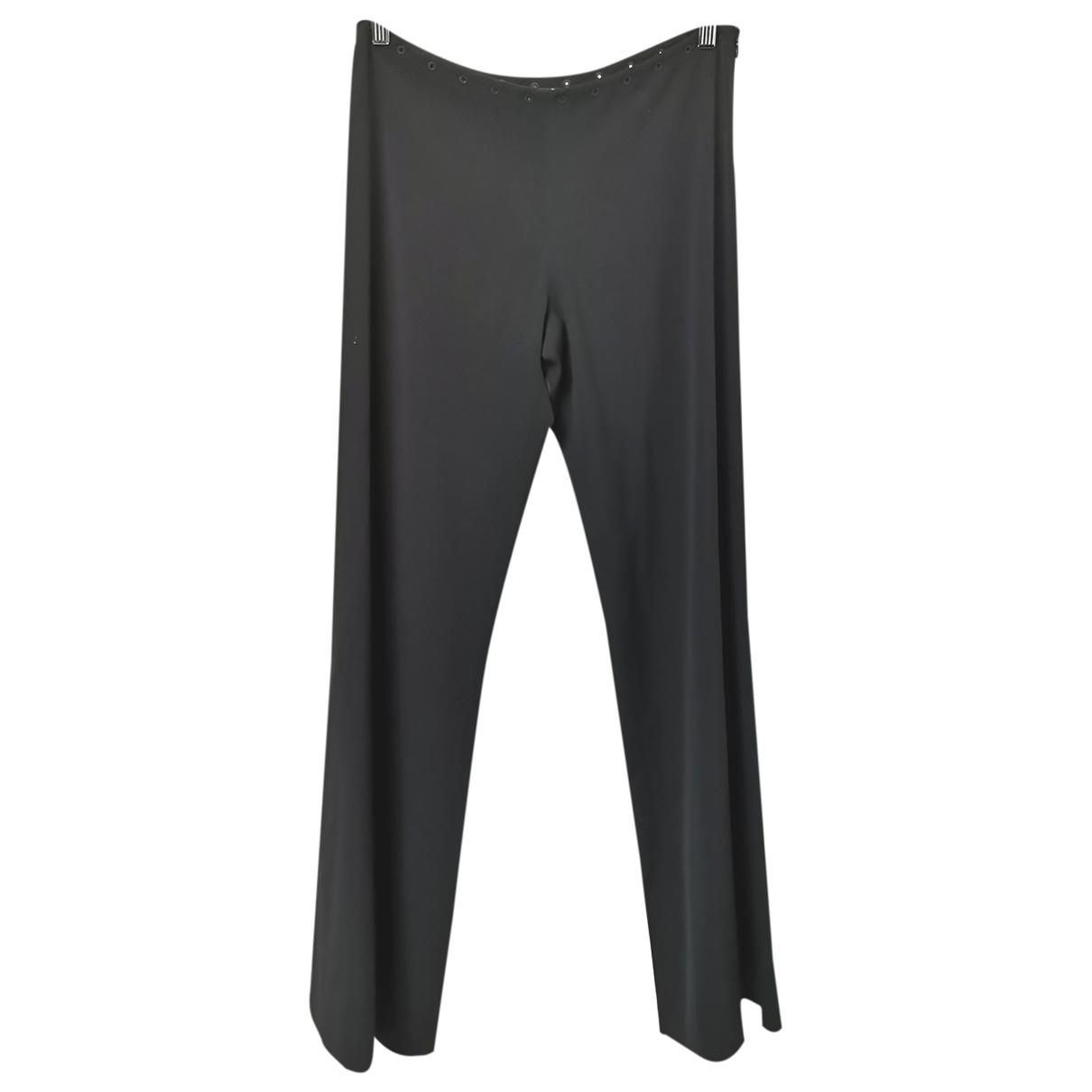 Jean Paul Gaultier \N Black Wool Trousers for Women 40 FR