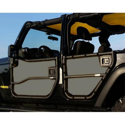 DirtyDog 4x4 Door Screens for Rugged Ridge Tube Doors, Gray - D/DJ4TS07RRGY