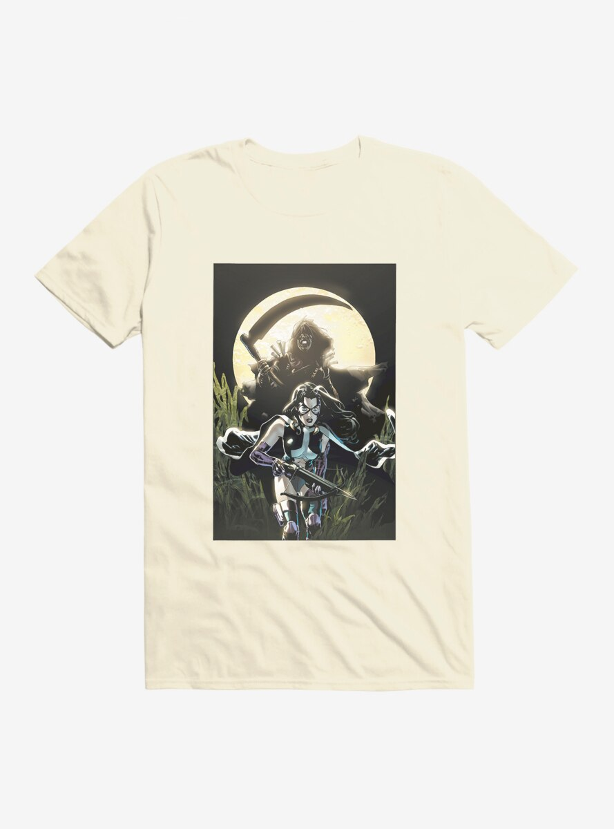 DC Comics Birds Of Prey Huntress Moonlight Comic Art T-Shirt