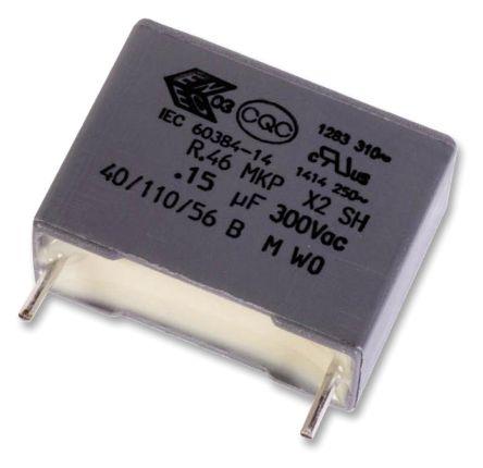 KEMET 2.2μF Polypropylene Capacitor PP 310 V ac, 630 V dc ±10% Tolerance Through Hole R46 Series (6)