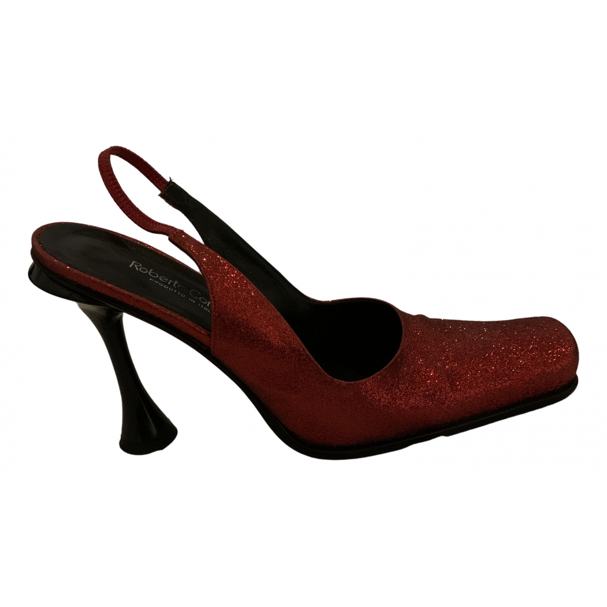 Non Signé / Unsigned \N Red Glitter Sandals for Women 38.5 EU