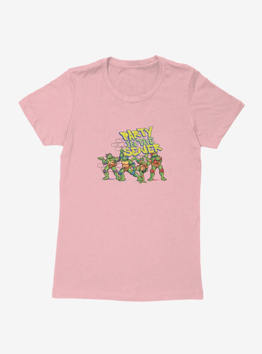 Teenage Mutant Ninja Turtles Sewer Party Womens T-Shirt