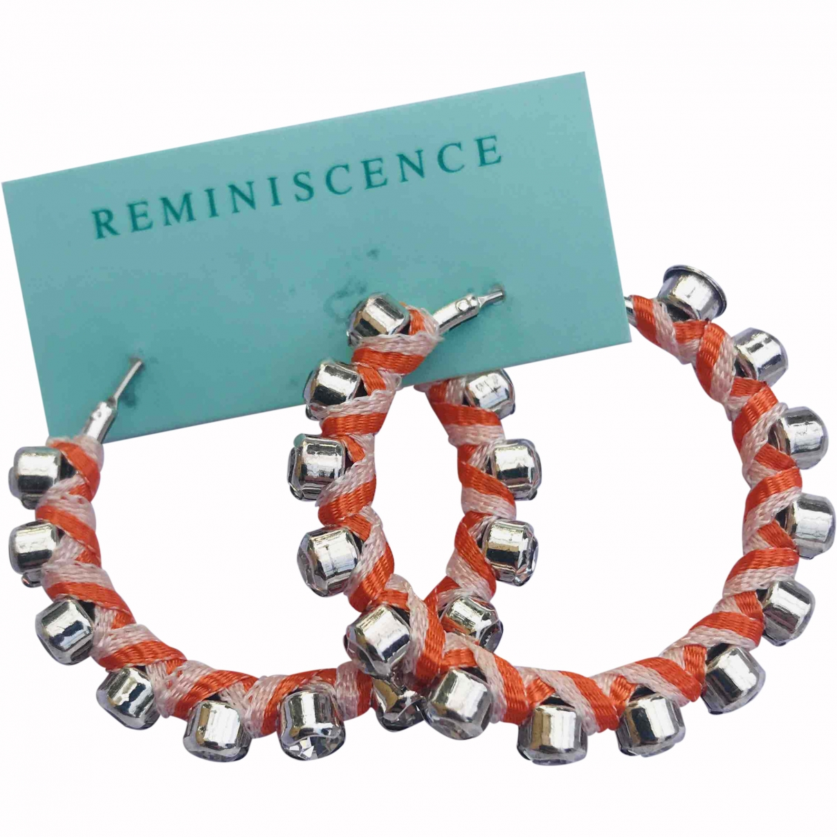 Reminiscence \N Orange Silver Earrings for Women \N