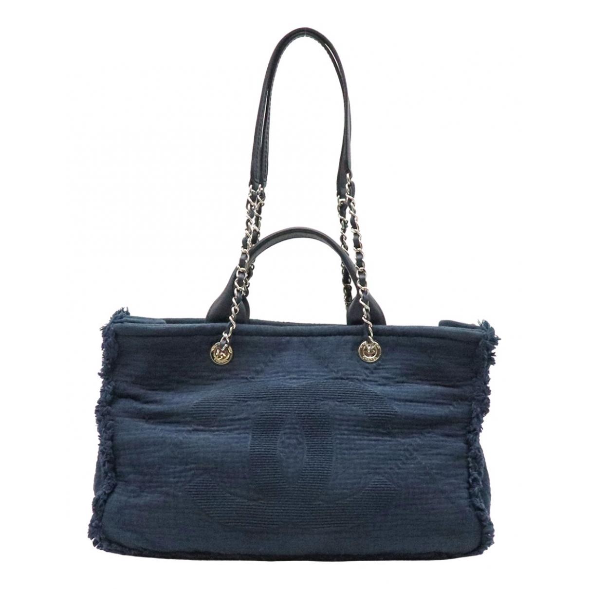 Chanel \N Navy Cotton handbag for Women \N