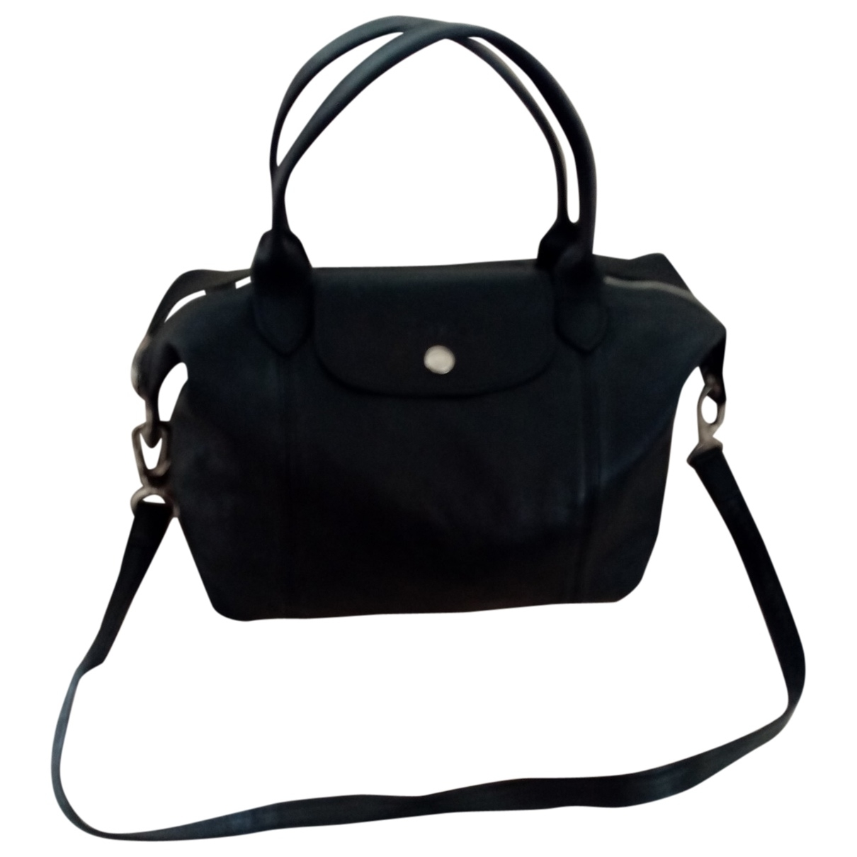 Longchamp \N Black Leather handbag for Women \N