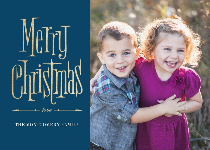 Christmas Photo Cards 5x7 Cards, Premium Cardstock 120lb with Elegant Corners, Card & Stationery -Vintage Christmas