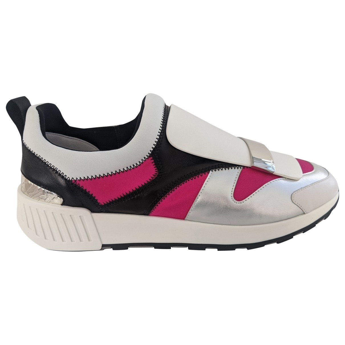 Sergio Rossi SR1 Pink Leather Trainers for Women 40 EU