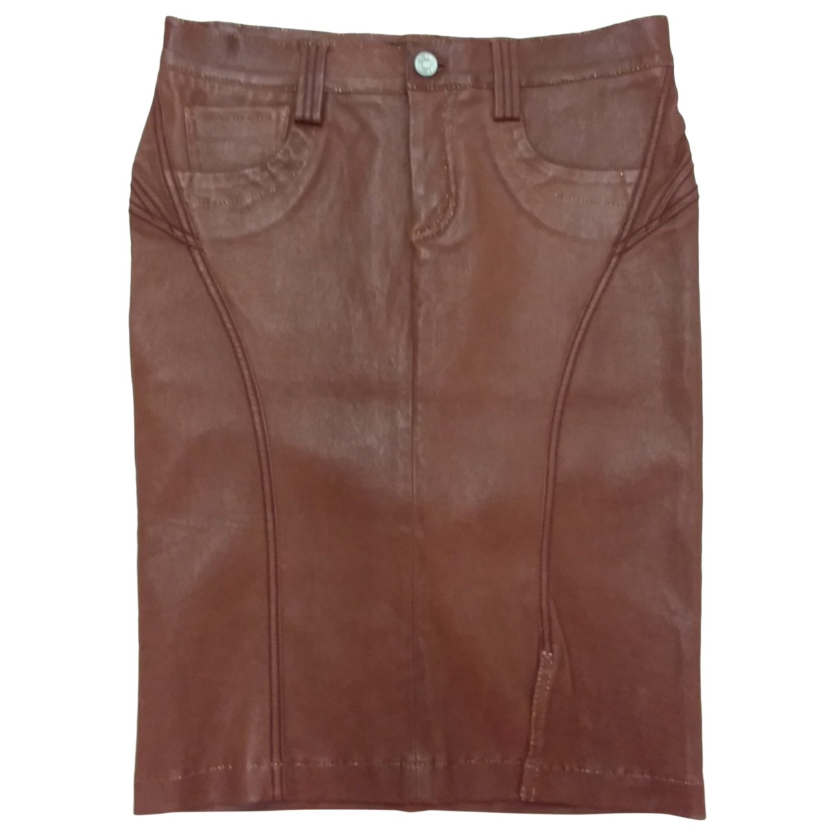 Non Signé / Unsigned \N Leather skirt for Women 42 IT