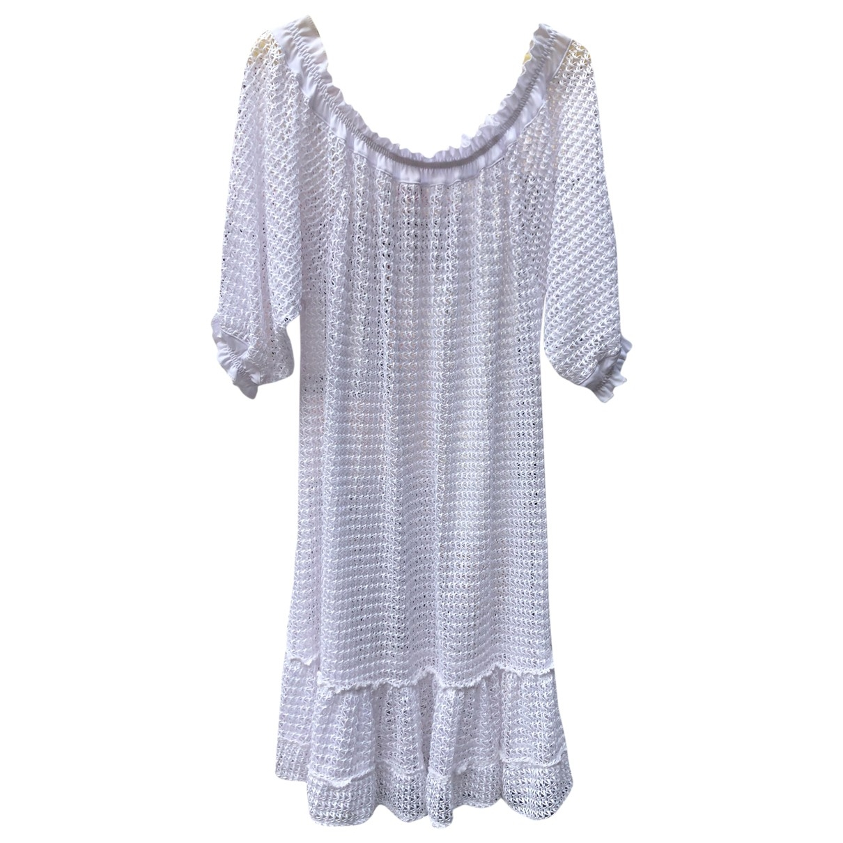 Non Signé / Unsigned Manche ballon White dress for Women M International