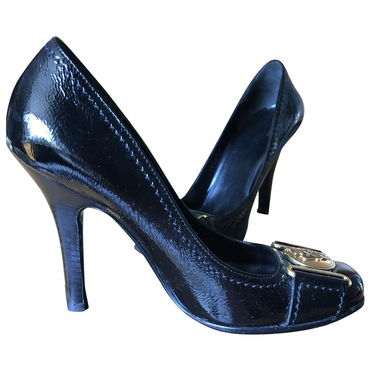 Gucci \N Black Patent leather Heels for Women 34 EU
