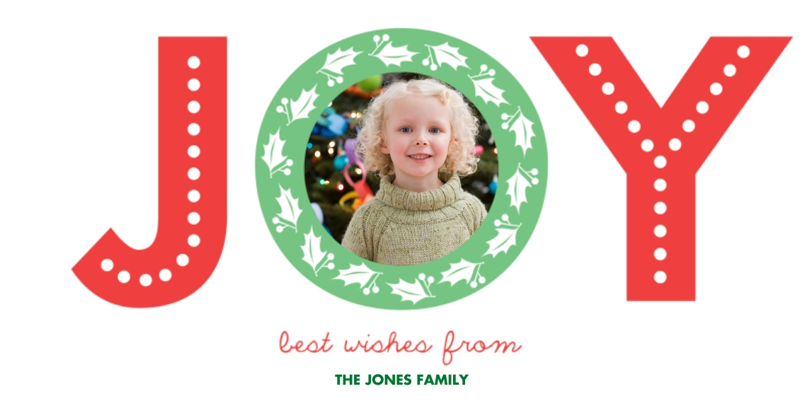 Christmas Photo Cards Flat Glossy Photo Paper Cards with Envelopes, 4x8, Card & Stationery -Oh Joy
