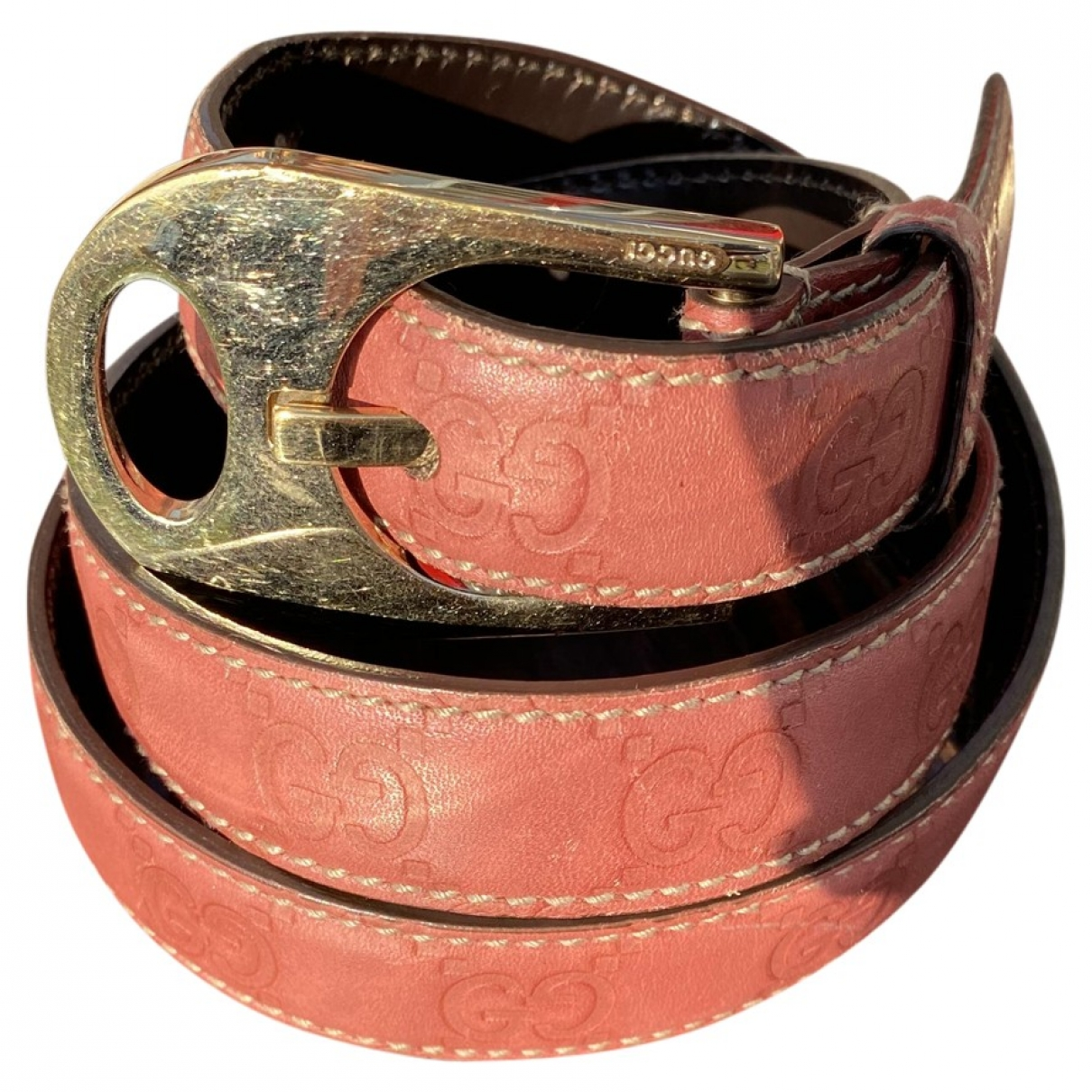 Gucci \N Pink Leather belt for Women 85 cm