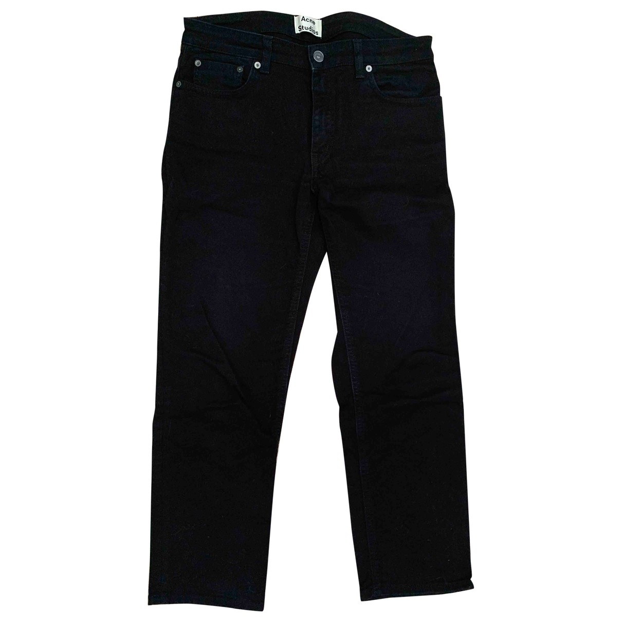 Acne Studios Row Black Cotton - elasthane Jeans for Women 29 US