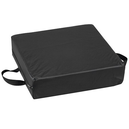 Duro-Med Deluxe Seat Lift Cushion Black Leatherette - 1.0 ea
