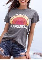 You Are My Sunshine Rainbow O-Neck T-Shirt