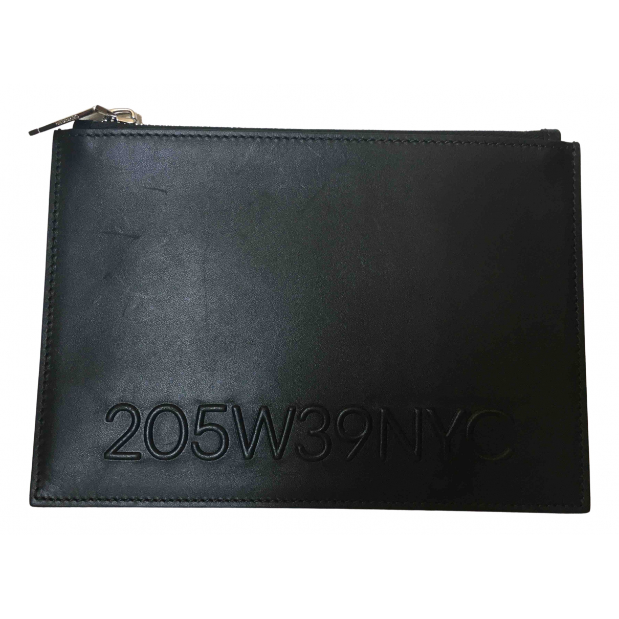 Calvin Klein 205w39nyc \N Black Leather Clutch bag for Women \N