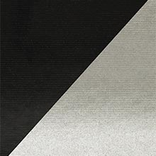 Silver/Black Dbl Sided Kraft Gift Wrap Colored - 24 X 833' - Gift Wrapping Paper by Paper Mart