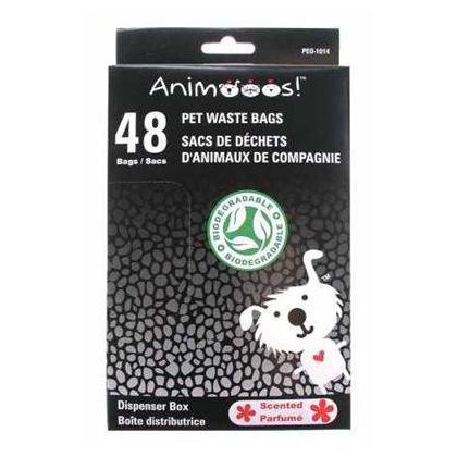 Sacs de déchets pour animaux de compagnie biodégradables parfumés dans la boîte de distributeur
