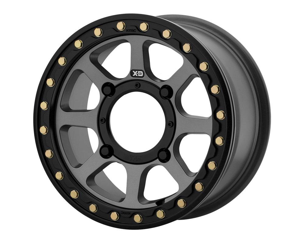 XD ATV XS234 Addict 2 Beadlock Wheel 15x6 4x4x156 +38mm Satin Gray