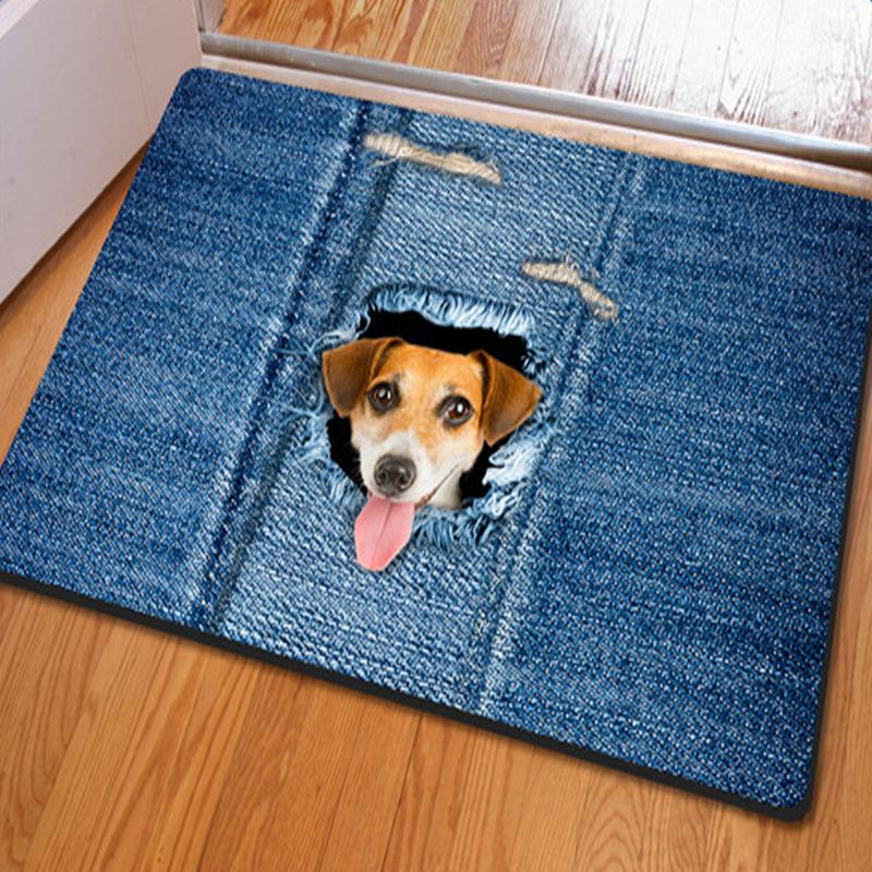 Vivid Simple Style Cute Dog Pattern Home Decorative Non Slip Doormat