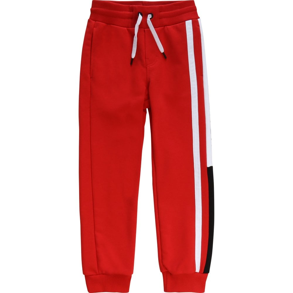Givenchy Kids Logo Print Joggers Colour: RED, Size: 4 YEARS