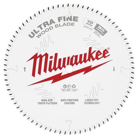 Milwaukee 10 in. 80T Ultra Fine Finish Circular Saw Blade