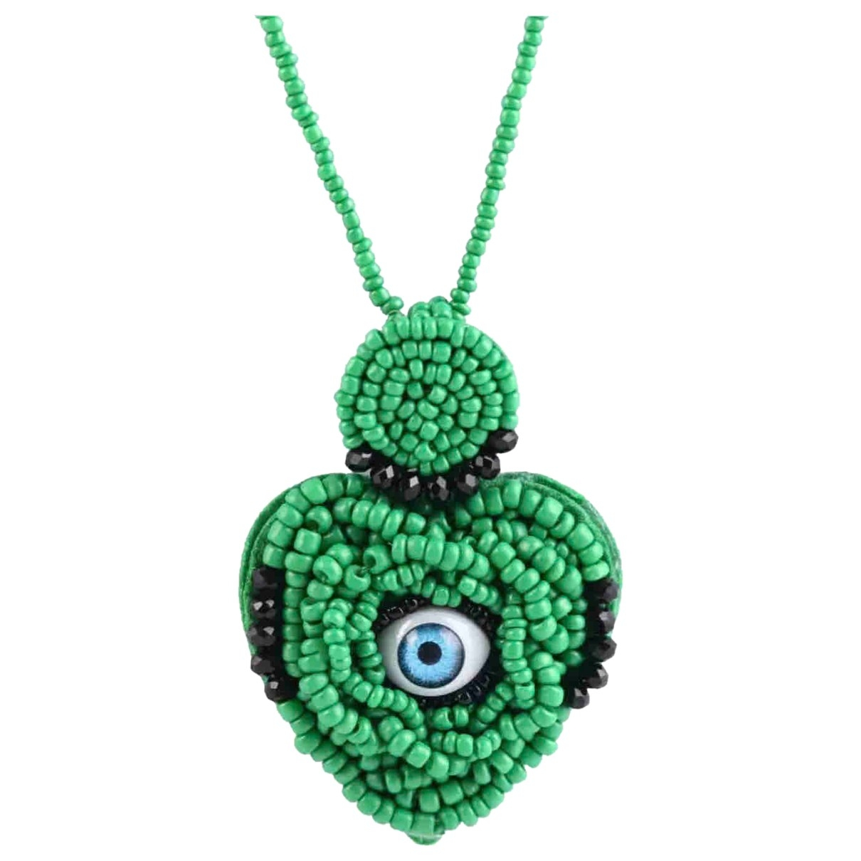 Non Signé / Unsigned Motifs Coeurs Green necklace for Women \N